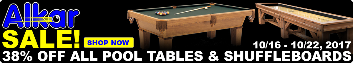 38% Coupon Code Pool Tables and Shuffleboards - Expires 10/22/17 - Omaha Nebraska