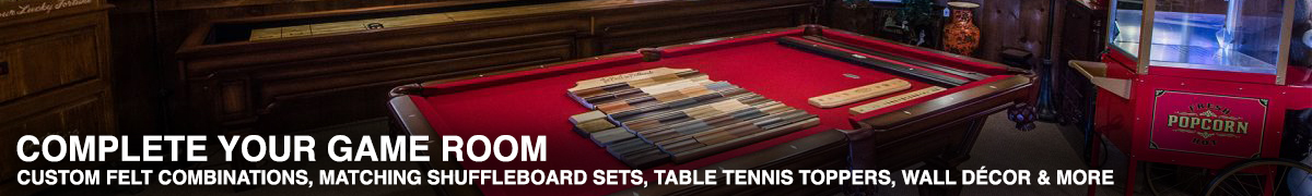 Matching Billiards and Shuffleboard Sets and Game Room Accessories in Omaha, Nebraska