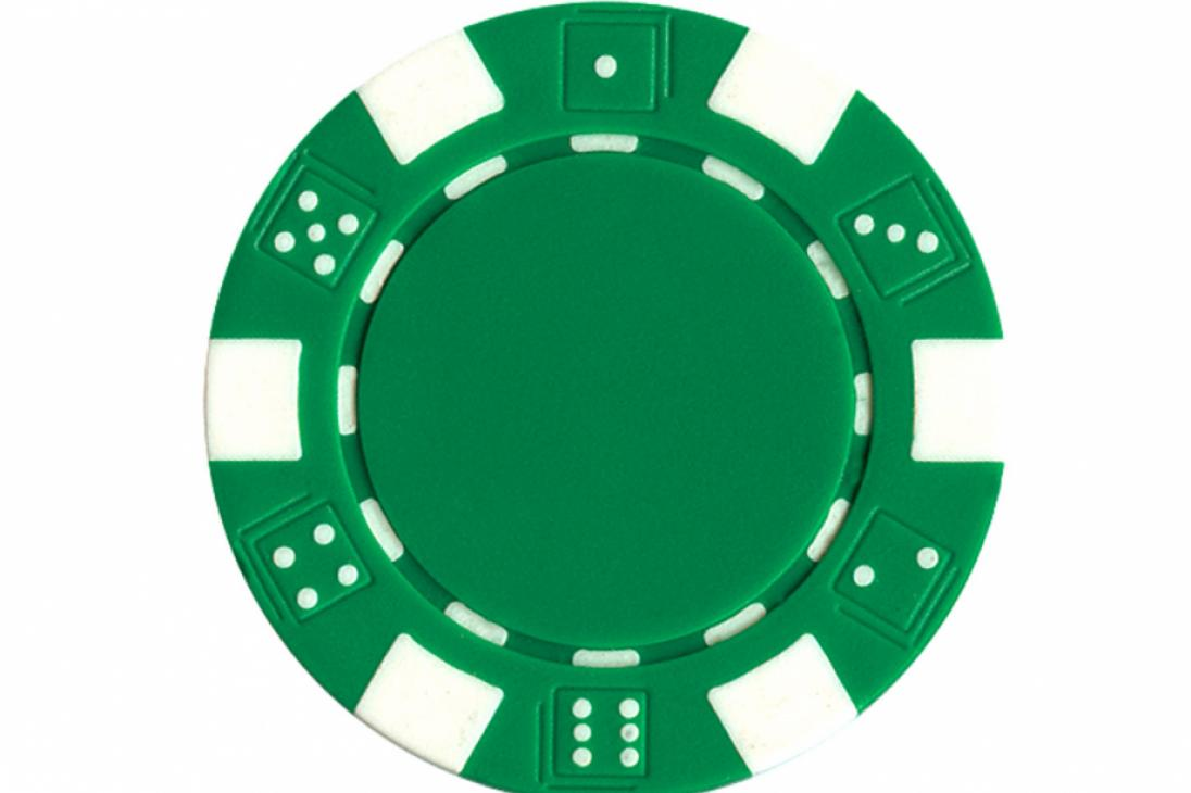 Dice Poker Chips   50 Count   Green