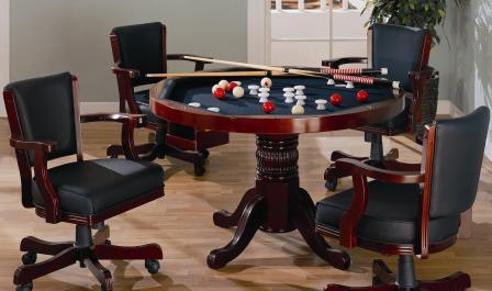 Coaster Mitchell Cherry 5 Piece 3 In 1 Game Table Set